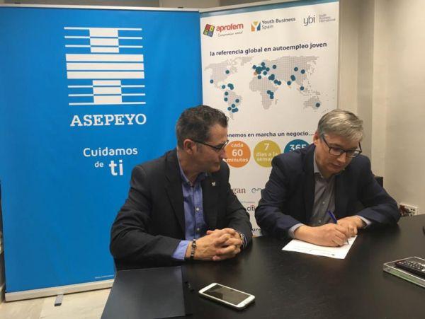 ASEPEYO y APROFEM firman un  acuerdo de colaboración para ayudar  al EMPRENDIMIENTO EMPRESARIAL