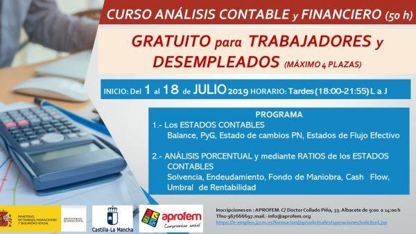 Inscripción abierta para el CURSO GRATUITO ANÁLISIS CONTABLE y FINANCIERO
