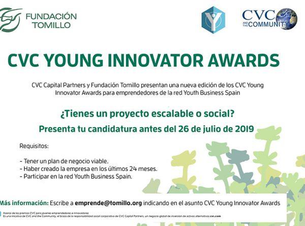 NUEVA CONVOCATORIA DE LOS PREMIOS CVC Young Innovator Awards 2019