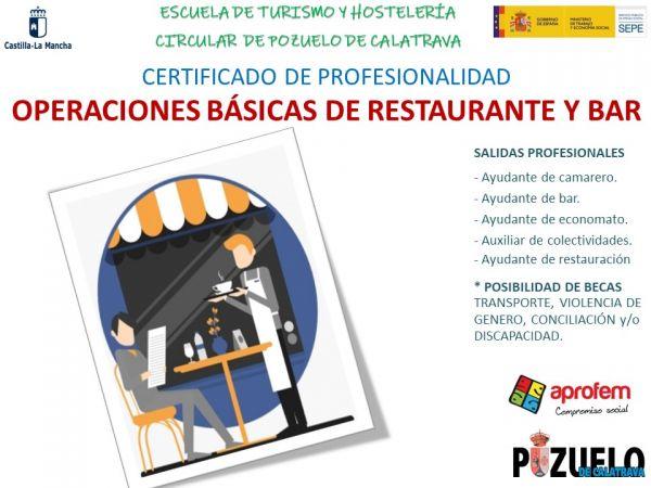 Curso de OPERACIONES BÁSICAS DE RESTAURANTE  y BAR, con certificado de profesionalidad