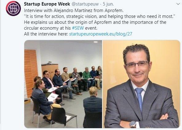 STARTUP EUROPE WEEK ENTREVISTA A NUESTRO PRESIDENTE